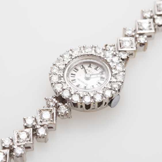 Jewellery watch is rich with diamonds, - photo 4