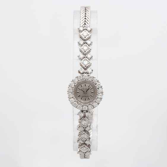 Jewellery watch is rich with diamonds, - photo 5