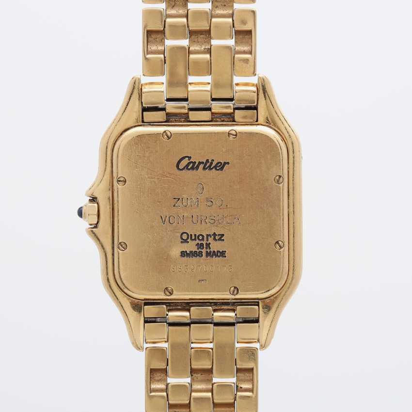 """CARTIER Damenuhr """"Panthère"""", 1980/90er Jahre. Gelbgold 18K. - photo 2"""