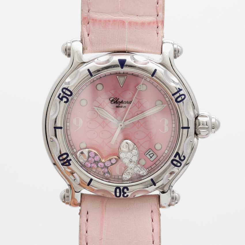 "CHOPARD ladies ' wristwatch, ""Happy sports (Happy Fish)"", stainless steel, quartz movement. - photo 1"