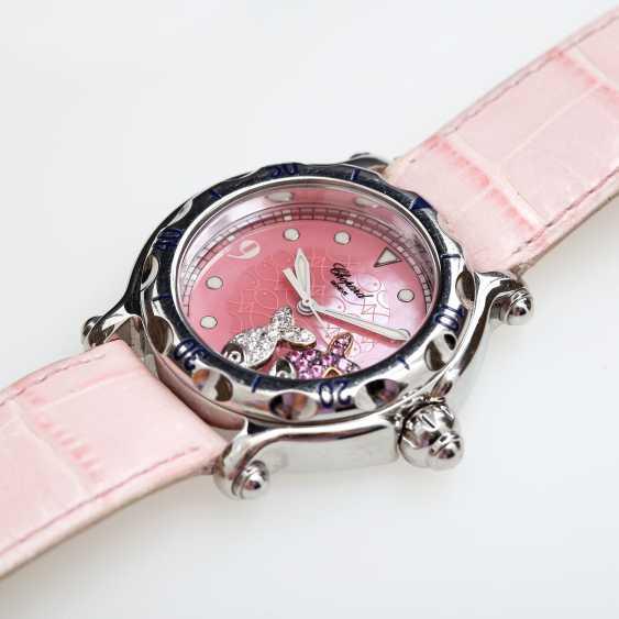 "CHOPARD ladies ' wristwatch, ""Happy sports (Happy Fish)"", stainless steel, quartz movement. - photo 4"