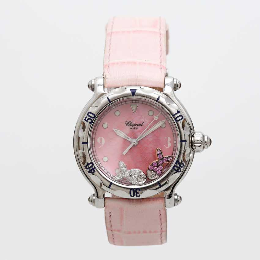 "CHOPARD ladies ' wristwatch, ""Happy sports (Happy Fish)"", stainless steel, quartz movement. - photo 5"