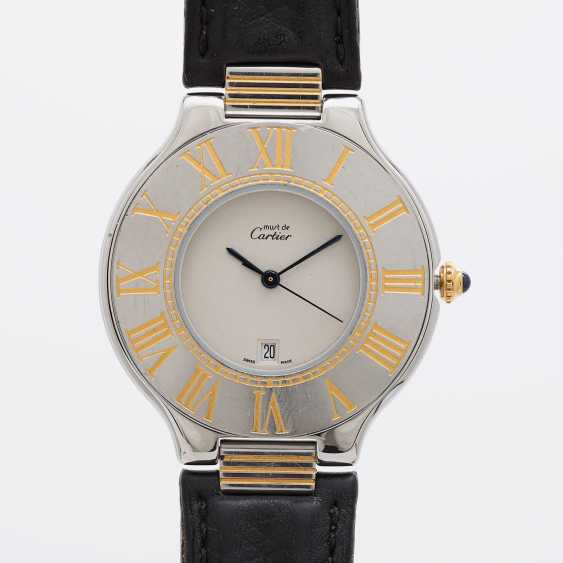"CARTIER ""Must 21"" watch, CA. 1990s. Stainless steel/gold plated. - photo 1"