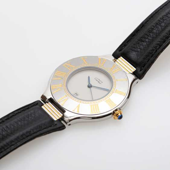 "CARTIER ""Must 21"" watch, CA. 1990s. Stainless steel/gold plated. - photo 4"
