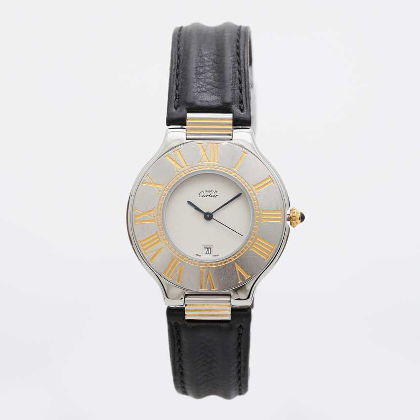 "CARTIER ""Must 21"" watch, CA. 1990s. Stainless steel/gold plated. - photo 5"