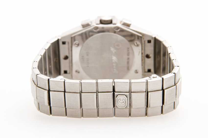 "CHOPARD ladies watch ""St. Moritz Chronograph"", midsize. Stainless steel. Diameter: approx. 31mm (without crown). - photo 3"
