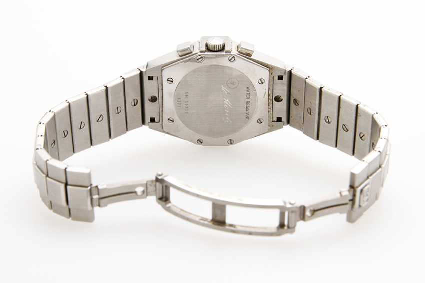 "CHOPARD ladies watch ""St. Moritz Chronograph"", midsize. Stainless steel. Diameter: approx. 31mm (without crown). - photo 4"