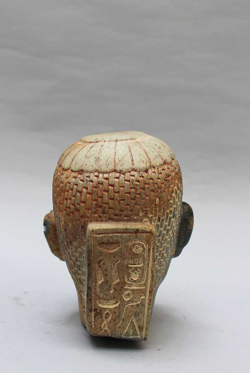 Two Stone Heads in Egyptian Taste - photo 3