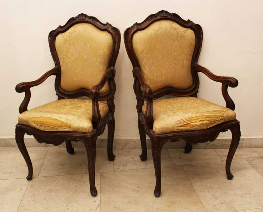 Pair of Venetian Arm Chairs - photo 1