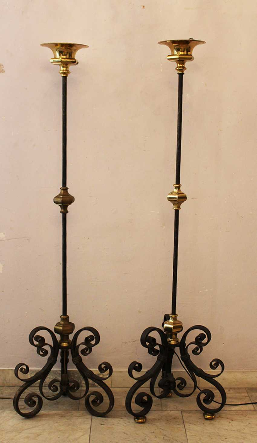 Pair of Spanish Iron Lighters  - photo 1