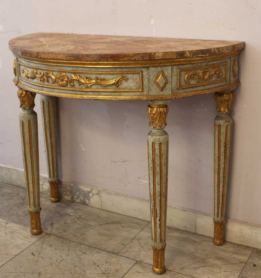 Pair of Demi Lune Consoles  - photo 3