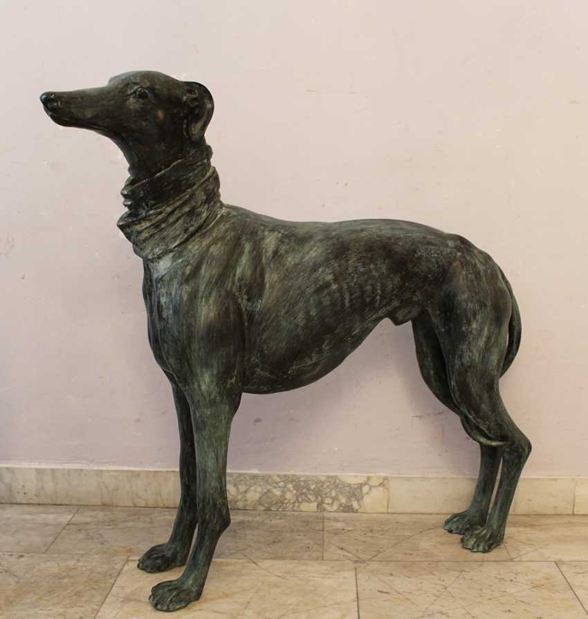 Pair of Lifesize Greyhound Sculptures - photo 2