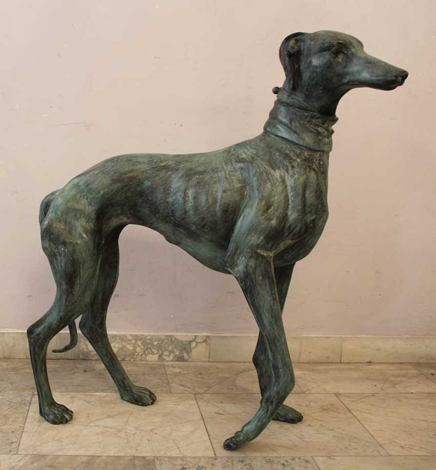 Pair of Lifesize Greyhound Sculptures - photo 3