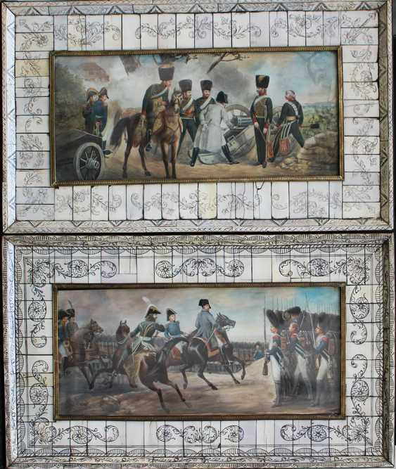 Pair of Napoleonic miniatures - photo 1