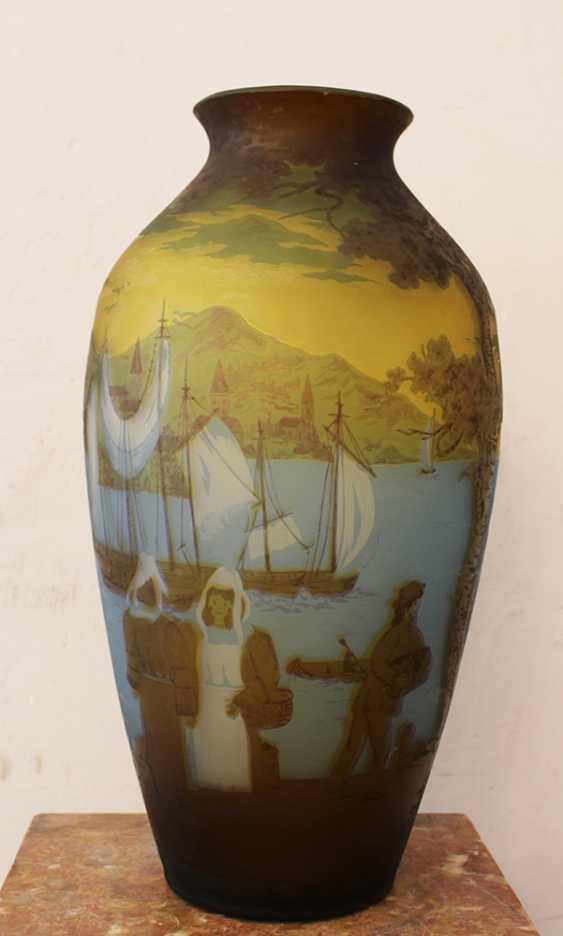 French Glass Vase  - photo 1