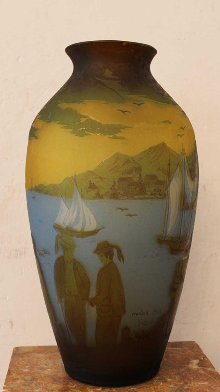 French Glass Vase  - photo 2
