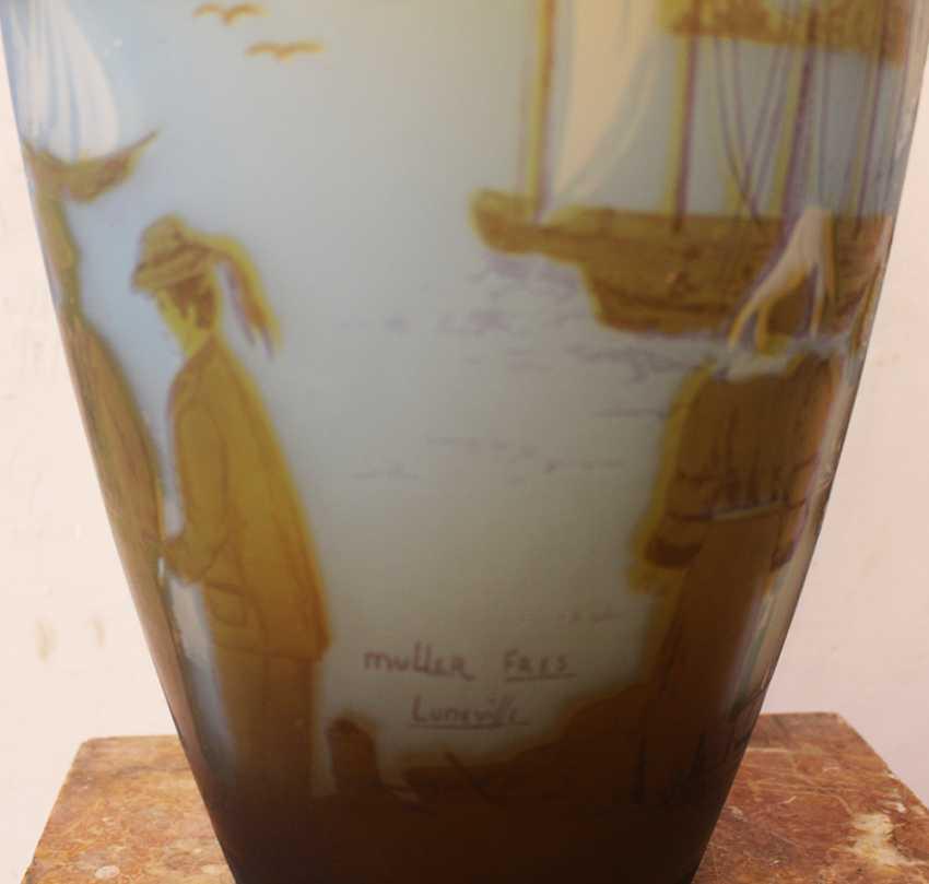 French Glass Vase  - photo 3