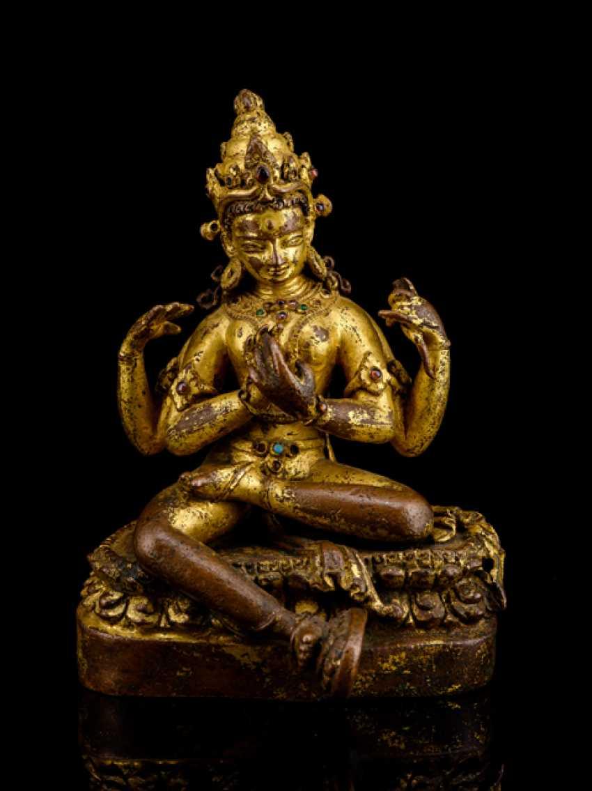 Rare fire gilt Bronze of Prajnaparamita - photo 1
