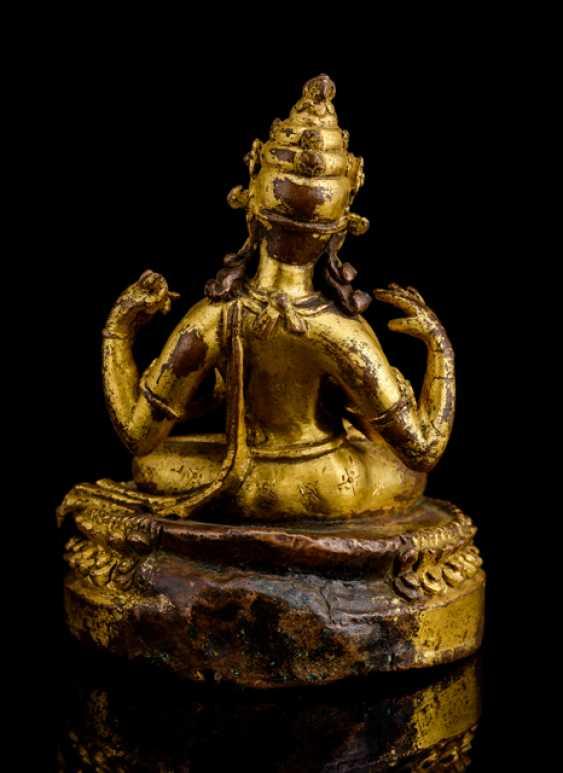 Rare fire gilt Bronze of Prajnaparamita - photo 3