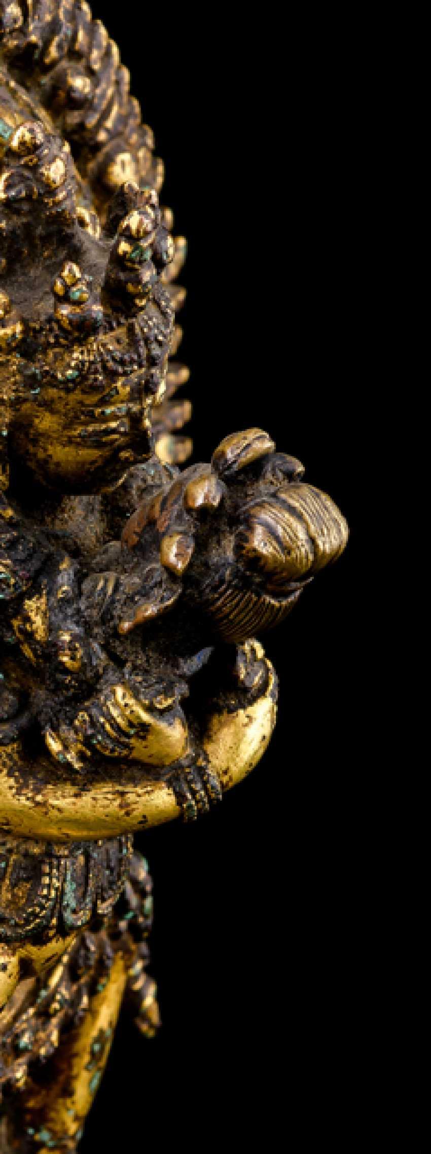 Fire-gilt Bronze of Samvara and NAIRATMYA - photo 2