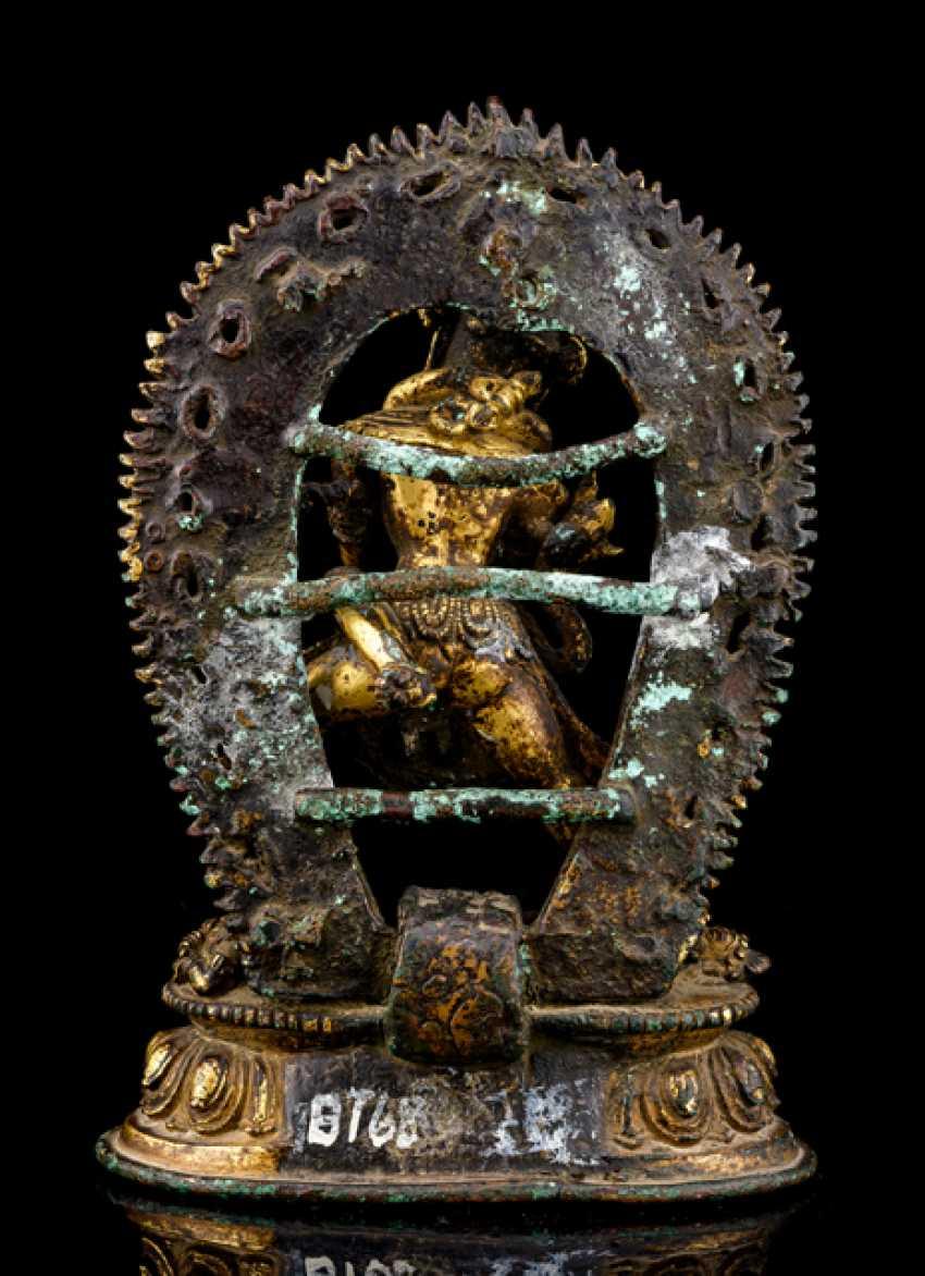 Fire-gilt Bronze of Samvara and NAIRATMYA - photo 3