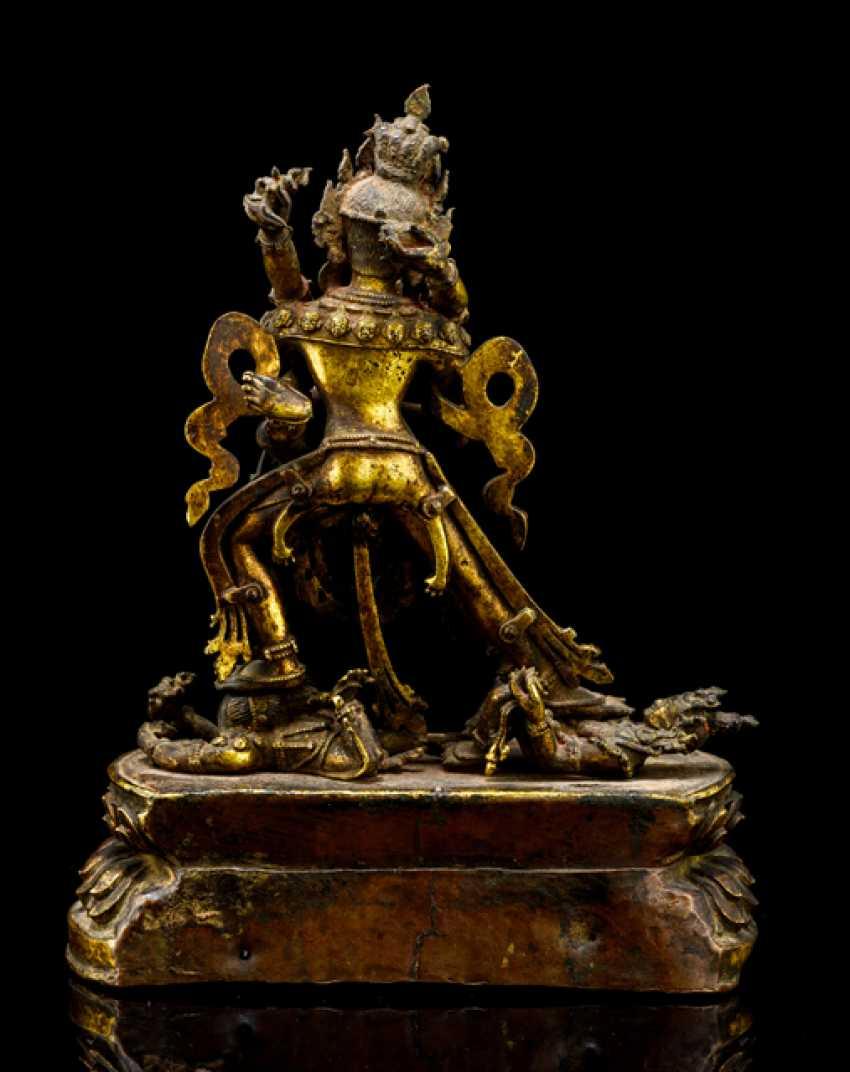 Fine fire-gilded Bronze of SAMVARA and NAIRATMYA - photo 2