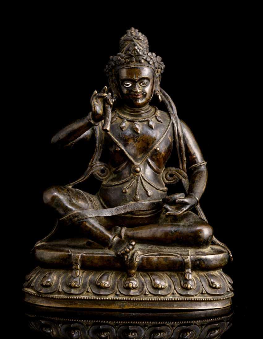 Fine and rare Bronze of the Mahasiddha KRSHNACARIN - photo 1