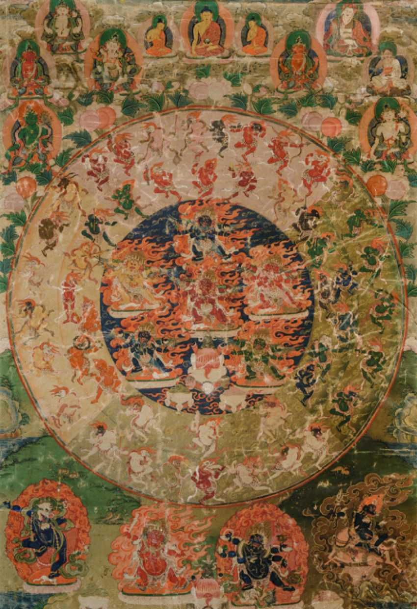 The Mandala of 58 wrathful deities from the Tibetan book of the dead - photo 1