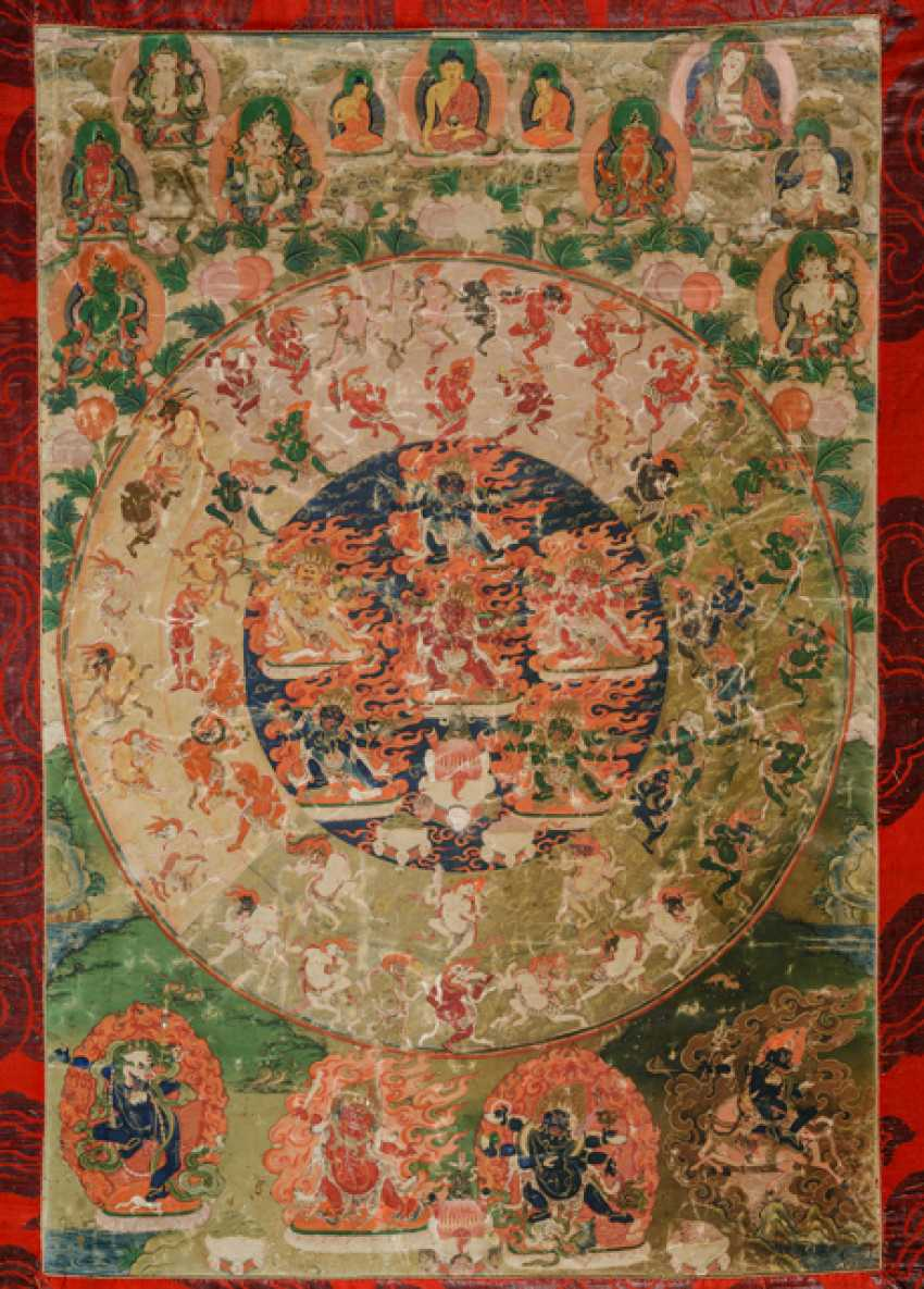 The Mandala of 58 wrathful deities from the Tibetan book of the dead - photo 2