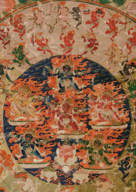 The Mandala of 58 wrathful deities from the Tibetan book of the dead - photo 3