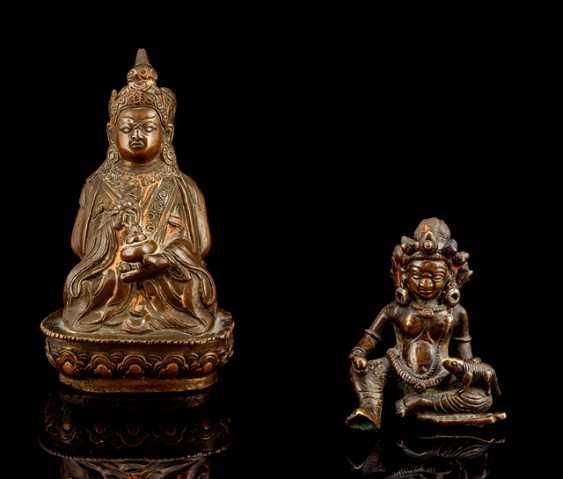 Bronze des PADMASAMBHAVA und Bronze des VAISHRAVANA - photo 1