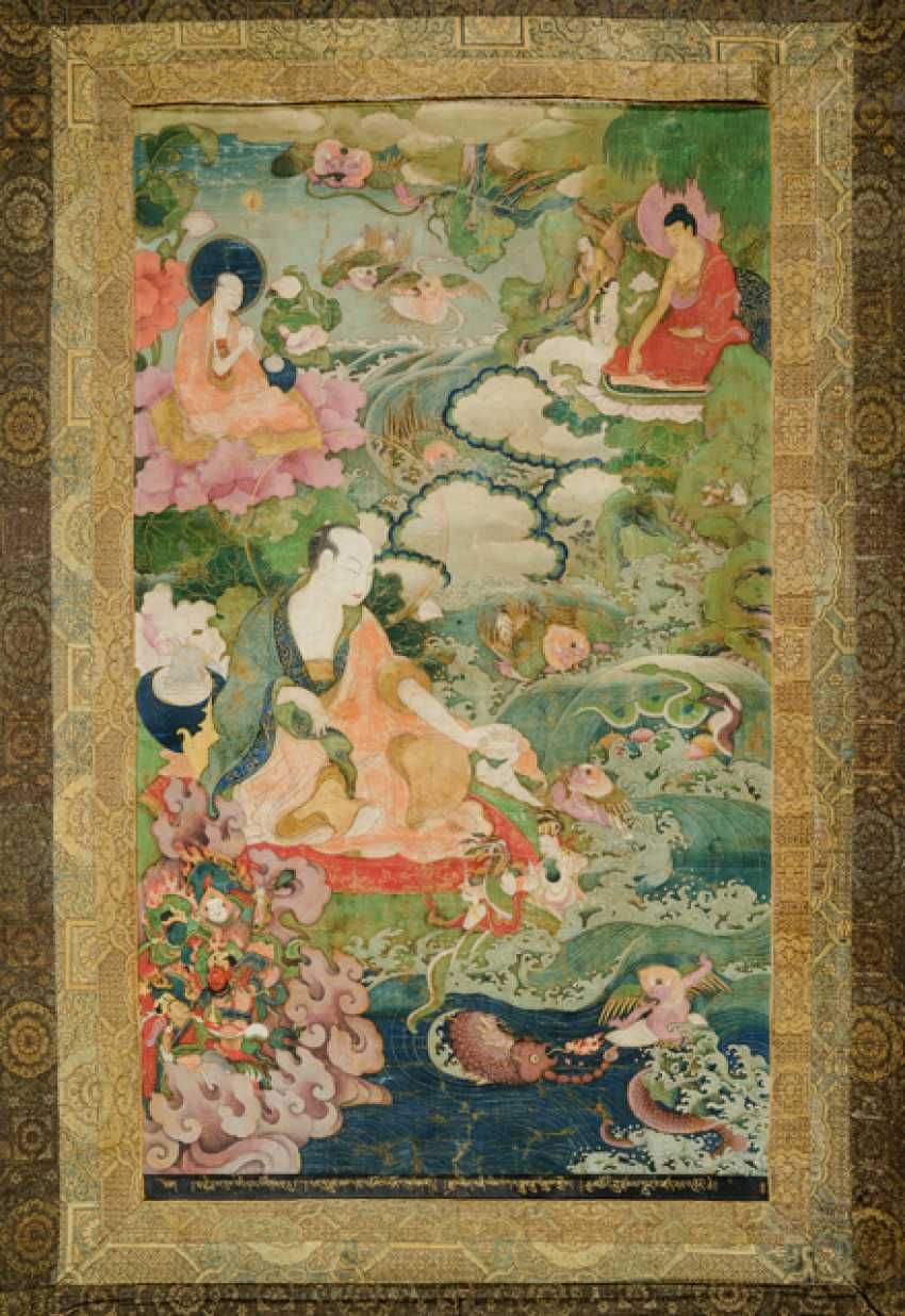 Fine and very rare Thangka of the Subhuti - the Indian way - photo 1