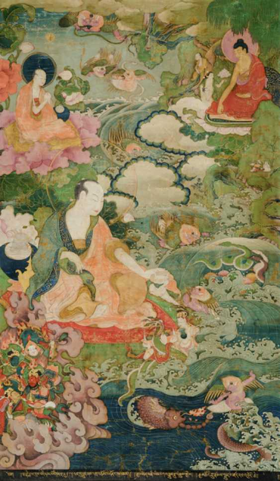 Fine and very rare Thangka of the Subhuti - the Indian way - photo 2