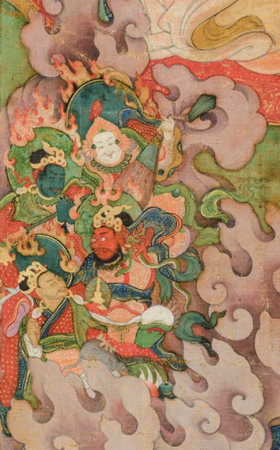 Fine and very rare Thangka of the Subhuti - the Indian way - photo 3