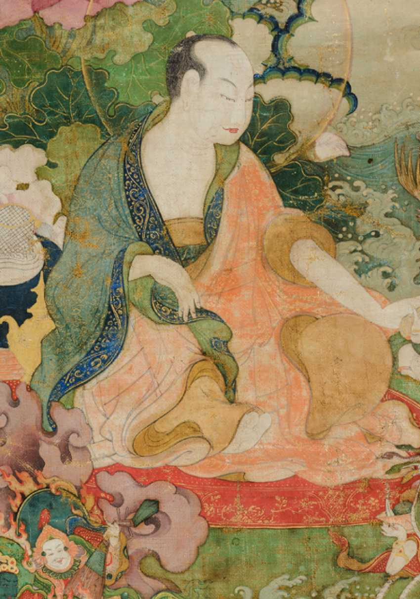 Fine and very rare Thangka of the Subhuti - the Indian way - photo 4