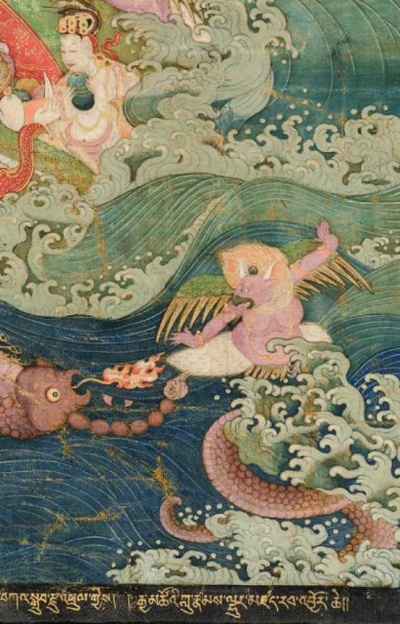 Fine and very rare Thangka of the Subhuti - the Indian way - photo 5