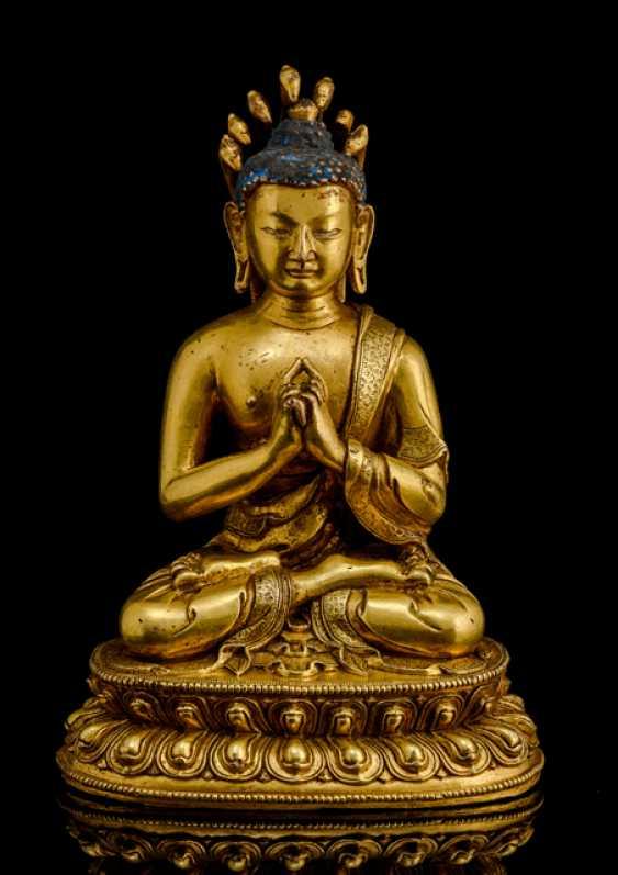 Fire-gilt Bronze of NAGARJUNA - photo 1
