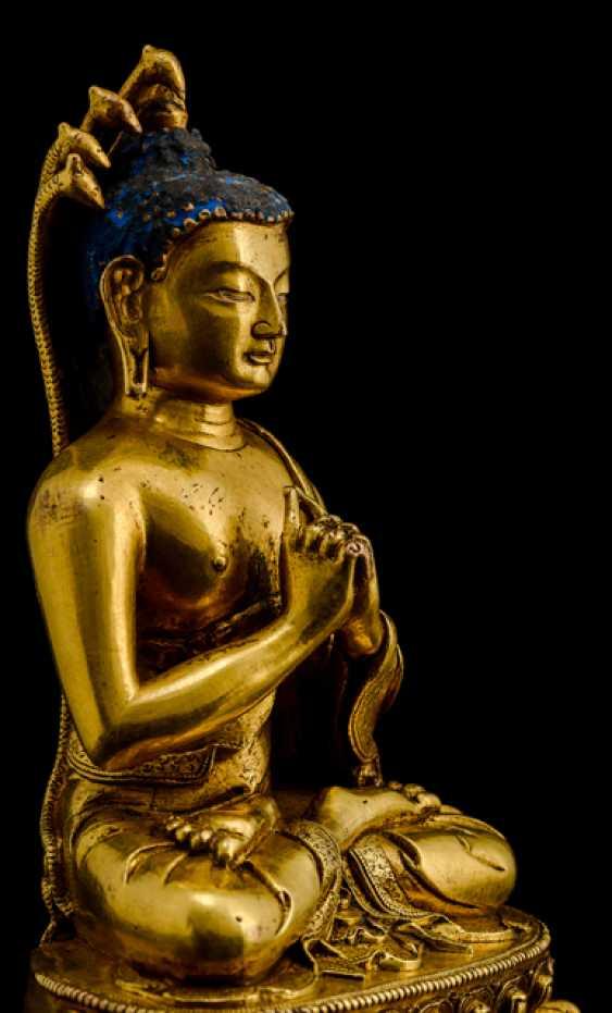 Fire-gilt Bronze of NAGARJUNA - photo 3