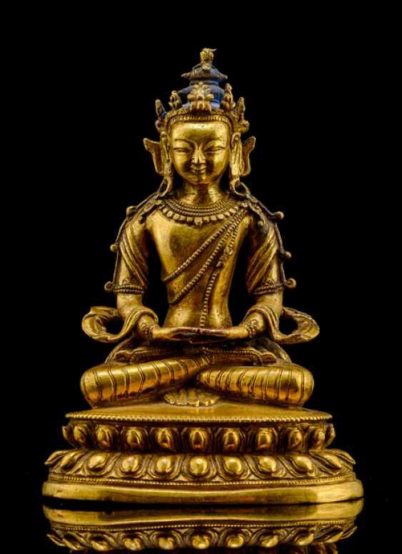 Fire-gilt Bronze of Amitayus - photo 1