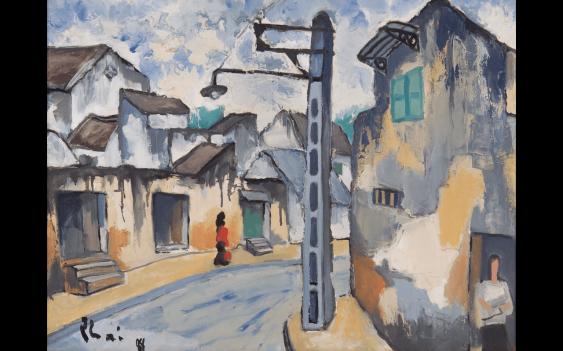 BUI XUAN PHAI (1920-1988) Alley in Hanoi Oil - photo 1