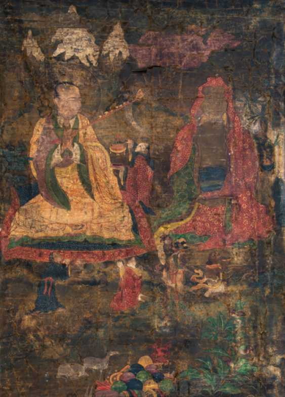 Thangka with two Arhat - photo 1