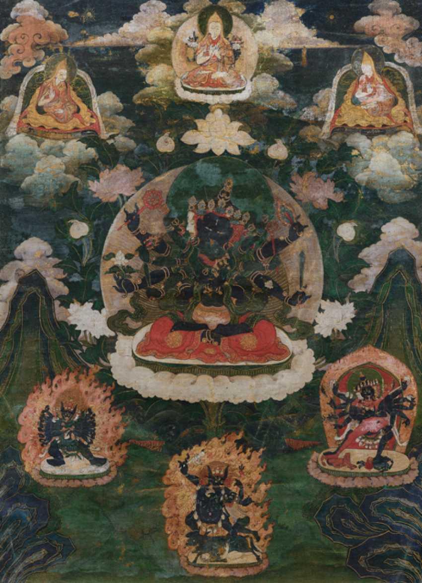 Thangka der GUHYASAMAJA in yab-yum - photo 1