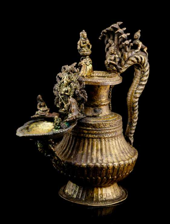 Ritual lamp made of copper - photo 1