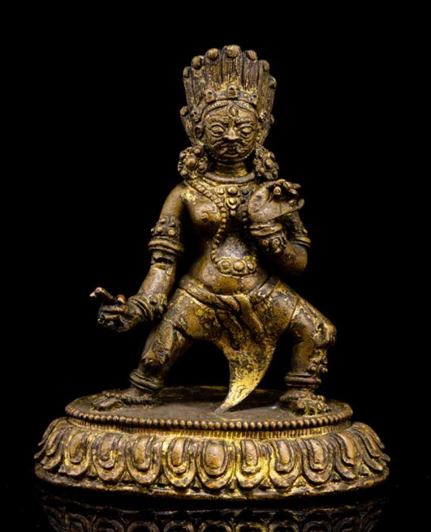 Bronze wrathful deity Ekajata - photo 1