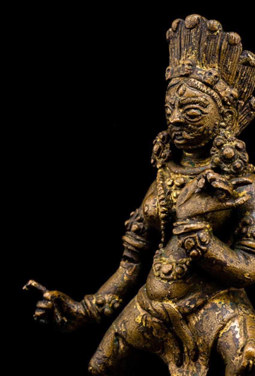 Bronze wrathful deity Ekajata - photo 2