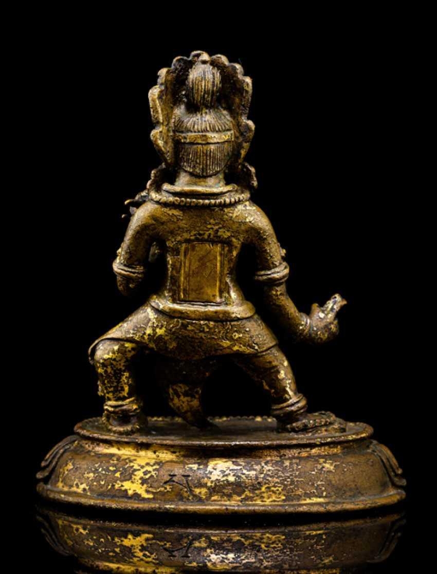 Bronze wrathful deity Ekajata - photo 3