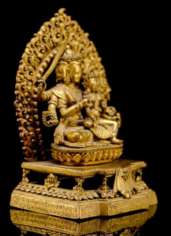 Fire-gilt Bronze of the MANJUGOSHA - photo 2