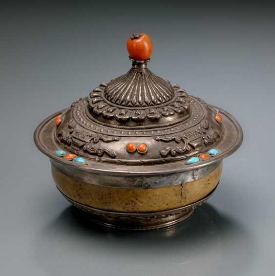 Fire gilded Mandorla and silver bowl - photo 2
