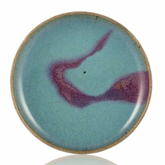 Plate with 'Jun'glaze, and a violet stain - photo 1