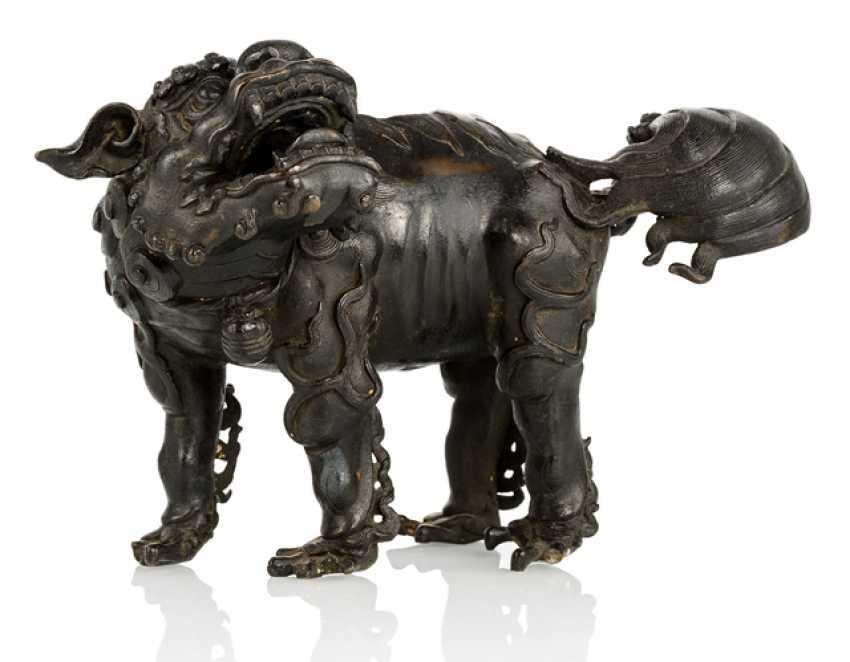 Incense burner, in lion shape, made of Bronze - photo 1